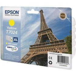 TINTA EPSON T7024 - ORIGINAL YELLOW 2.400 PAGINAS