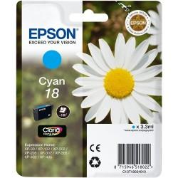TINTA EPSON 18 - CARTUCHO EPSON T1802 - ORIGINAL CYAN 180 PAGINAS