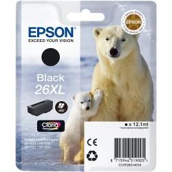TINTA EPSON 26 - CARTUCHO EPSON T2621 - ORIGINAL BLACK 500 PAGINAS