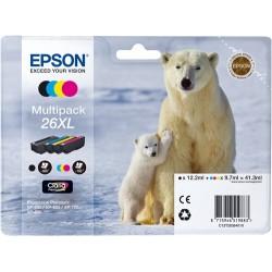 TINTA EPSON 26 - CARTUCHO EPSON T2621 - ORIGINAL PACK 4 COLORES