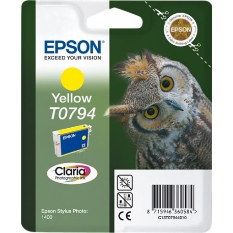 TINTA EPSON T0794 - ORIGINAL YELLOW 885 PAGINAS