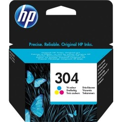TINTA HP 304 - ORIGINAL COLOR 100 PAGINAS