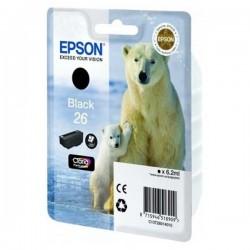 TINTA EPSON 26 - CARTUCHO EPSON T2601 - ORIGINAL BLACK 220 PAGINAS