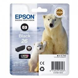 TINTA EPSON 26 - CARTUCHO EPSON T2611 - ORIGINAL FOTO 200 PAGINAS