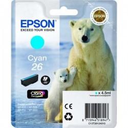 TINTA EPSON 26 - CARTUCHO EPSON T2612 - ORIGINAL CYAN 300 PAGINAS