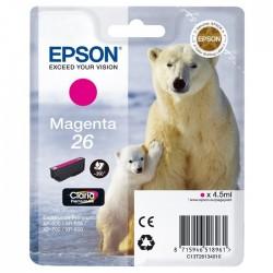 TINTA EPSON 26 - CARTUCHO EPSON T2613 - ORIGINAL MAGENTA 300 PAGINAS