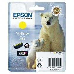 TINTA EPSON 26 - CARTUCHO EPSON T2614 - ORIGINAL YELLOW 300 PAGINAS