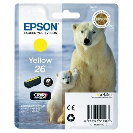 TINTA EPSON 26 - CARTUCHO EPSON T2614 - ORIGINAL YELLOW 300 PAGINAS