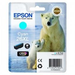 TINTA EPSON 26X - CARTUCHO EPSON T2632 - ORIGINAL CYAN 700 PAGINAS