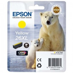 TINTA EPSON 26X - CARTUCHO EPSON T2634 - ORIGINAL YELLOW 700 PAGINAS
