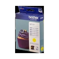 TINTA BROTHER LC123 - ORIGINAL YELLOW 600 PAGINAS