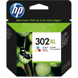 TINTA HP 302XL - ORIGINAL COLOR 330 PAGINAS