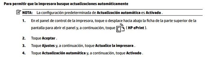 Desctivar actualizaciones automáticas Ofiicejet 8715